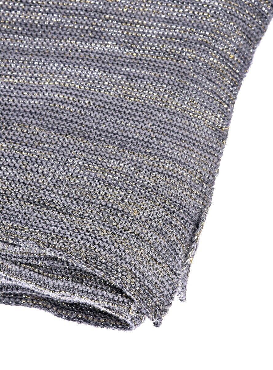 Szary koc Glitter 150x170 cm