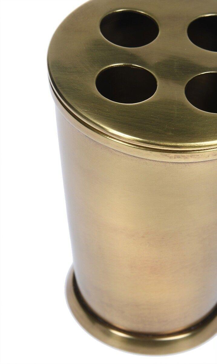 Pojemnik na szczoteczki do zębów Florance Brass 9x9x12 cm