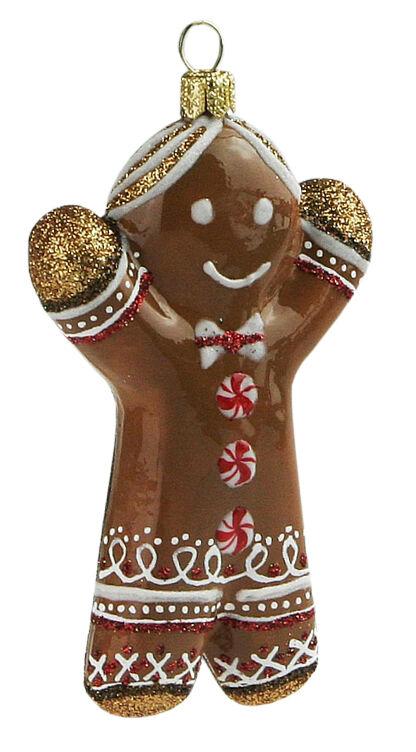 Ręcznie dekorowana bombka Ciastko Chłopiec 11cm