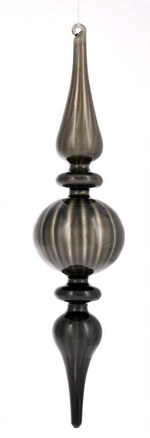 Bombka podłużna szpic 7x7x28cm