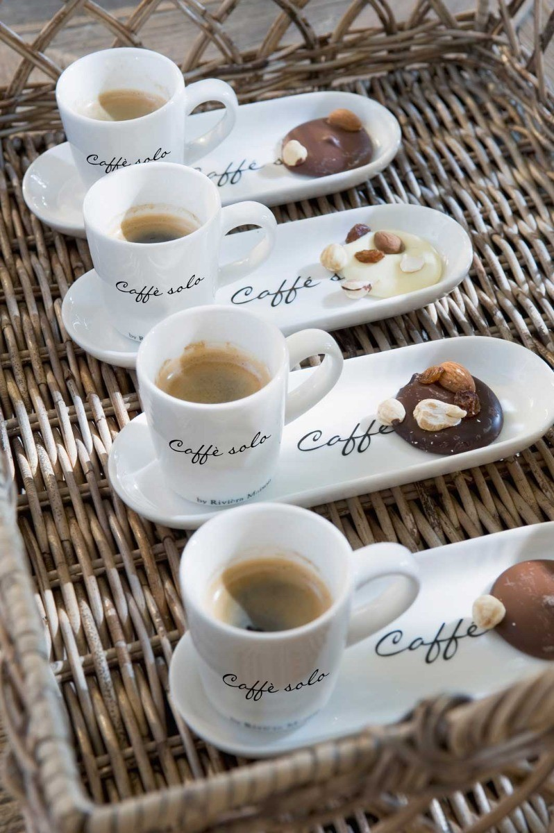 Filiżanka z talerzykiem Caffe Solo 18×7 cm Riviera Maison Miloo Home 129230
